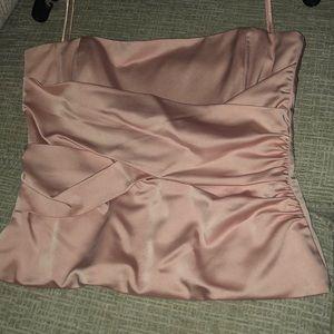 Pink satin corset
